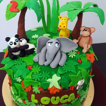 Gâteau d'anniversaire savane par CoffeeCake