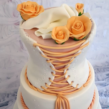 Wedding Cake Corset par CoffeeCake